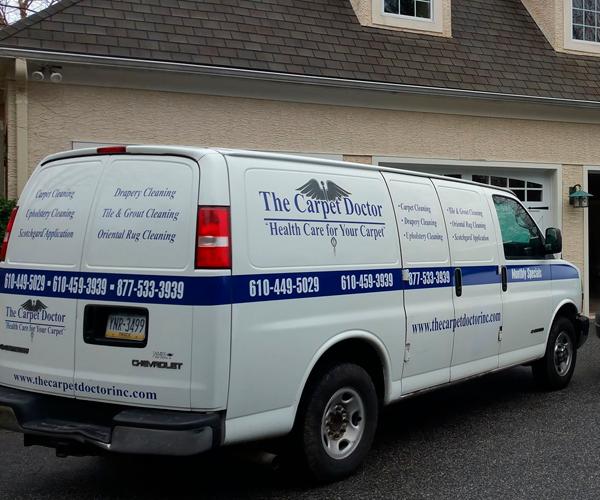 The Carpet Doctor Inc. van